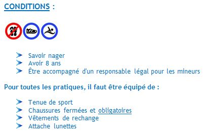 Conditions de pratiques 2